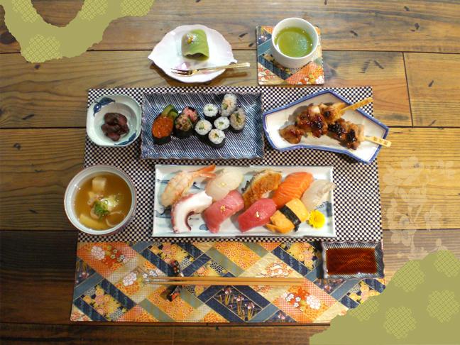 寿司コース完成写真