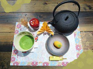 「抹茶テーブルセッティングコース」完成写真